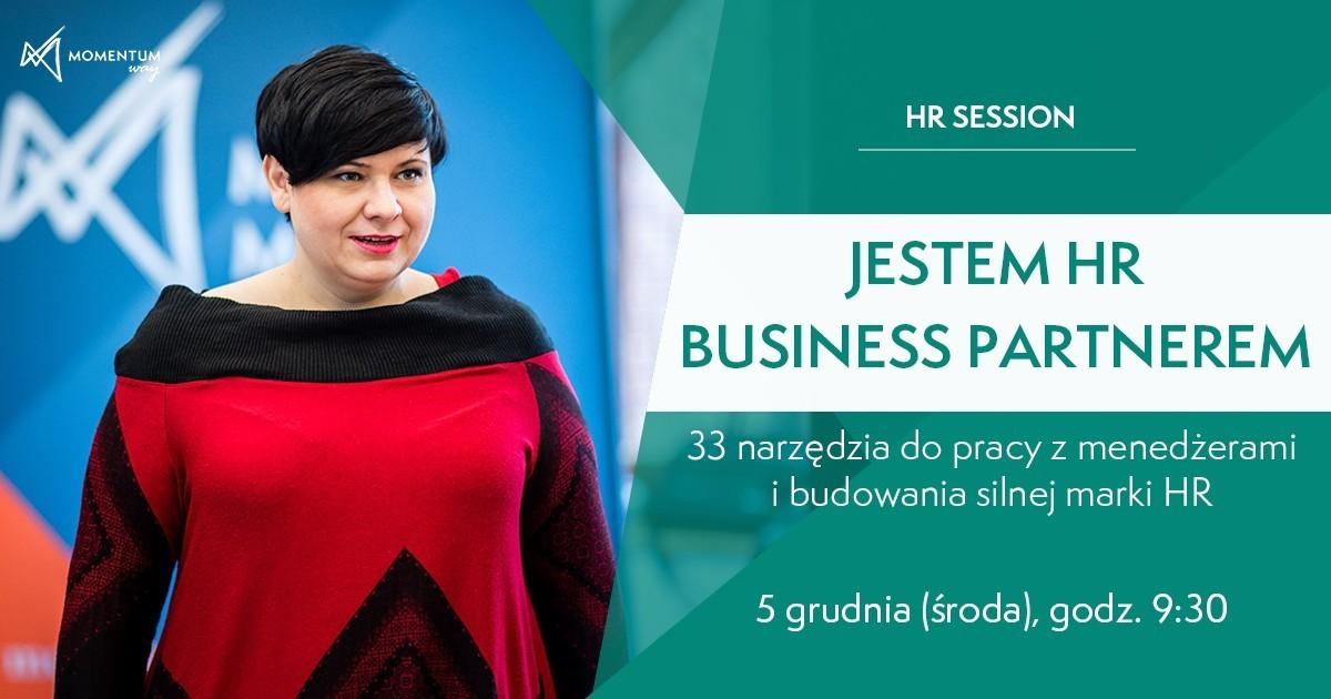 """Szkolenie """"Jestem HR Business Partnerem. 33 narzędzia do pracy z menedżerami i budowania silnej marki HR"""", Beata Kapcewicz, Momentum Way"""